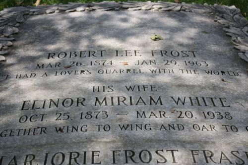 Robert Frost's grave--Bennington, VT